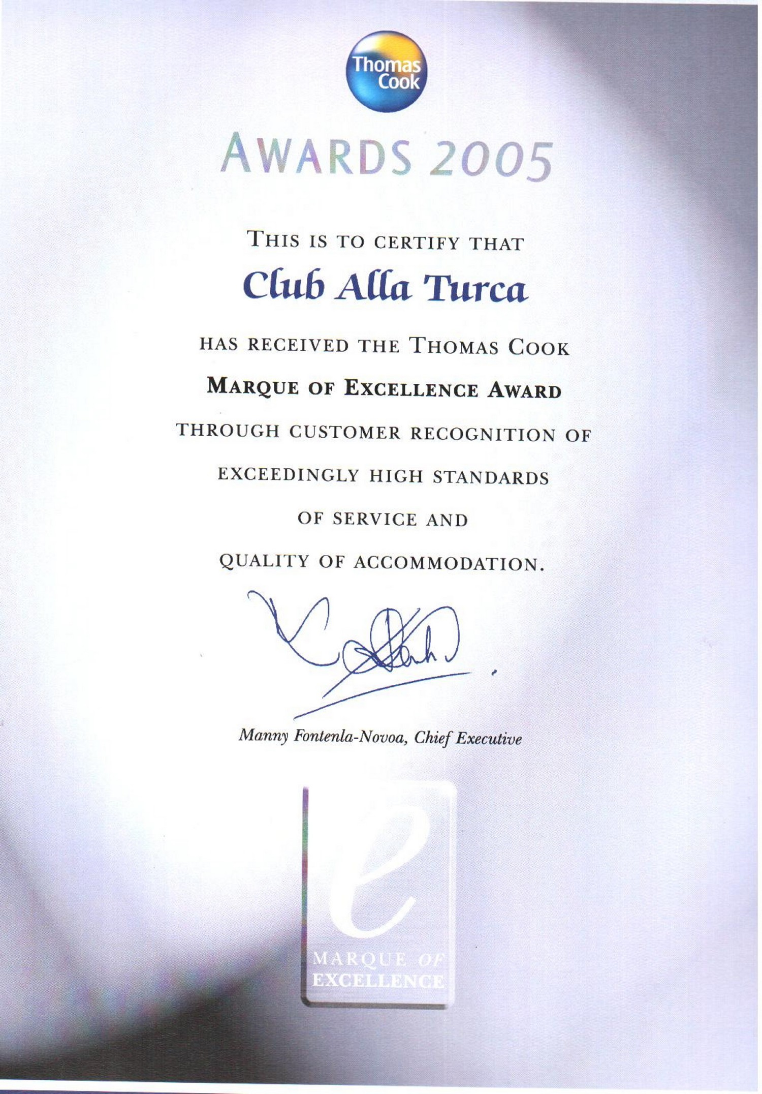 Formal award certificate template jcmanagementco electrical wiring certificate of excellence award jcmanagementco thomas cook 2005 certificate of excellence award formal award certificate template jcmanagementco yadclub Gallery